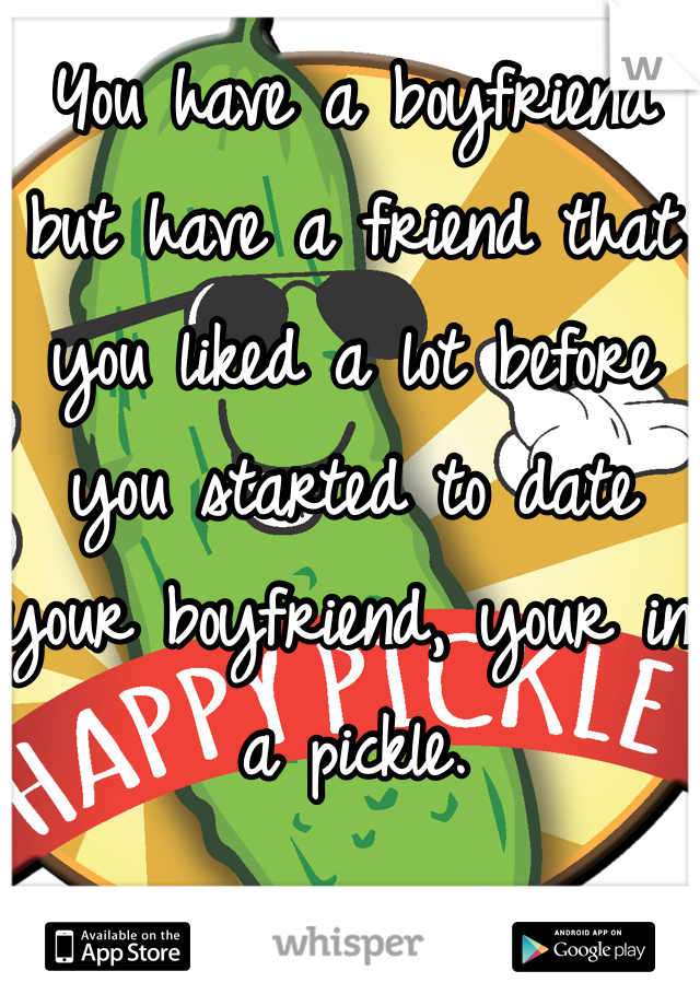 You have a boyfriend but have a friend that you liked a lot before you started to date your boyfriend, your in a pickle.
