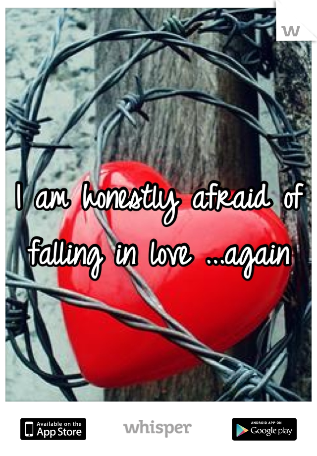 I am honestly afraid of falling in love ...again