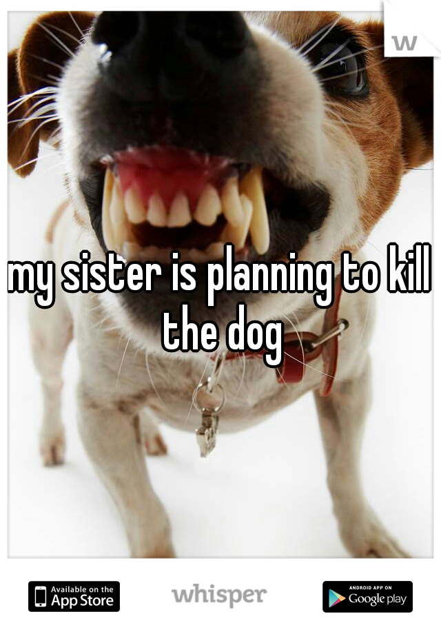 my sister is planning to kill the dog