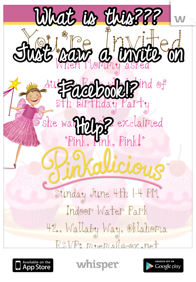 What is this??? Just saw a invite on Facebook!?  Help?