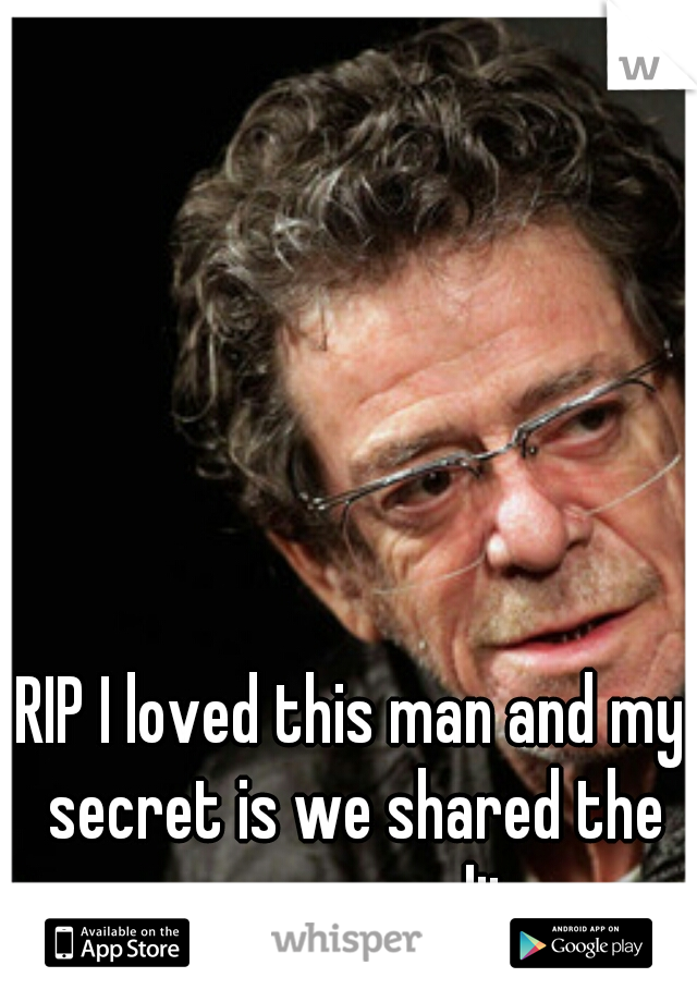 RIP I loved this man and my secret is we shared the same sexuality