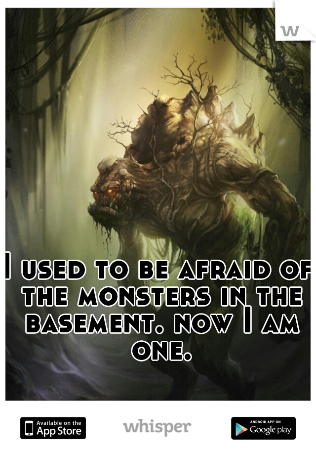 I used to be afraid of the monsters in the basement. now I am one.
