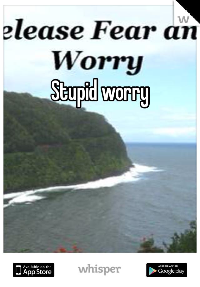 Stupid worry