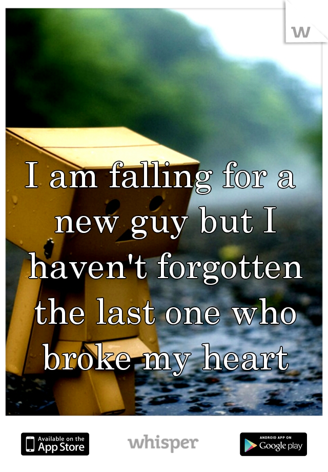 I am falling for a new guy but I haven't forgotten the last one who broke my heart
