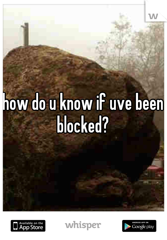 how do u know if uve been blocked?