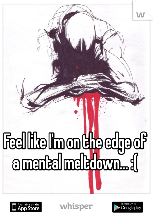 Feel like I'm on the edge of a mental meltdown... :(