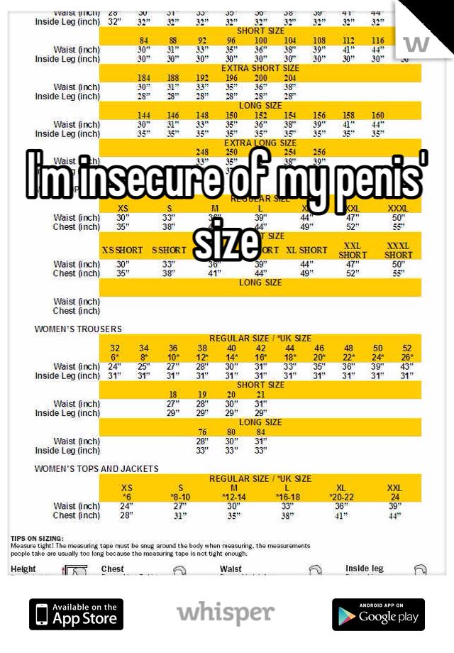 My dick size