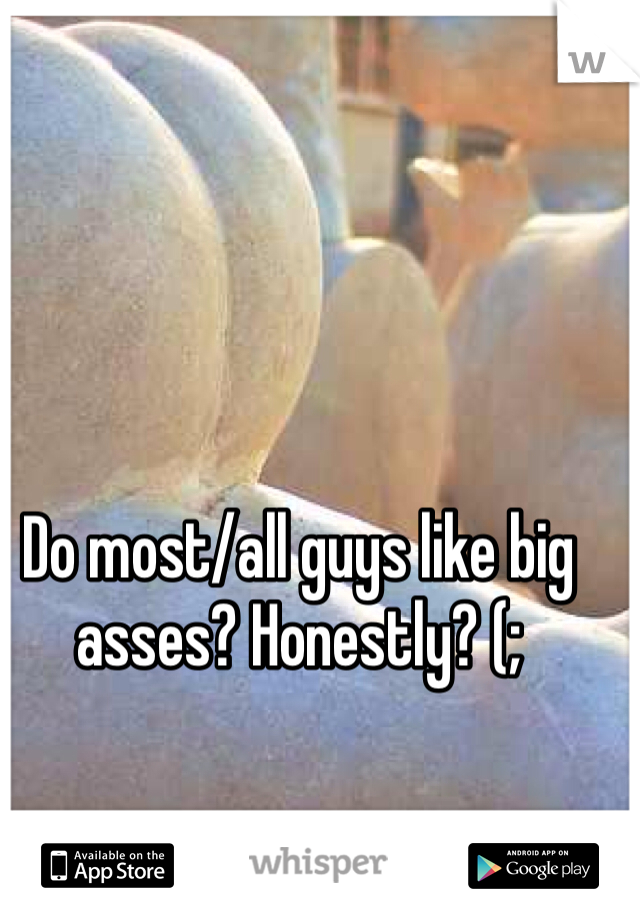 Do most/all guys like big asses? Honestly? (;