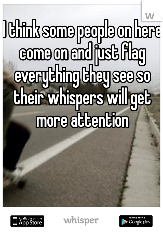 I think some people on here come on and just flag everything they see so their whispers will get more attention