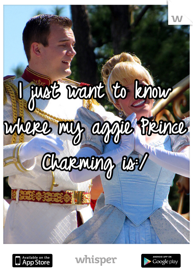 I just want to know where my aggie Prince Charming is:/