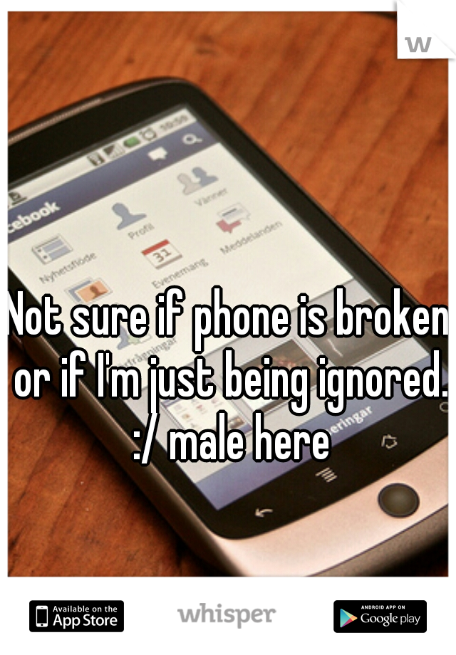 Not sure if phone is broken or if I'm just being ignored. :/ male here
