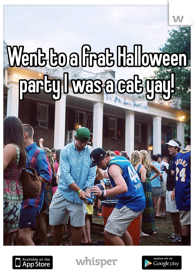 Went to a frat Halloween party I was a cat yay!