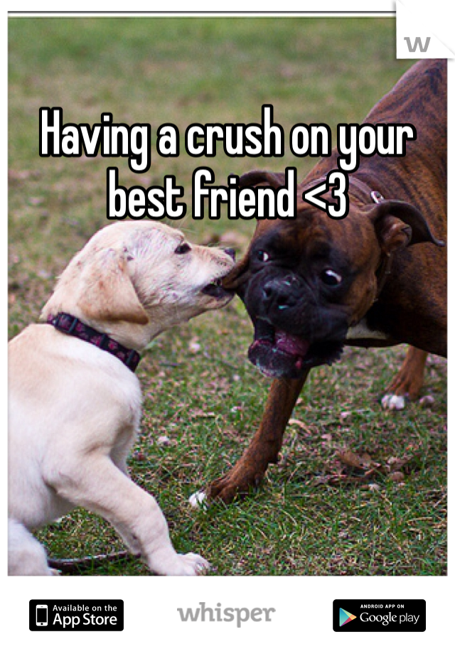 Having a crush on your best friend <3