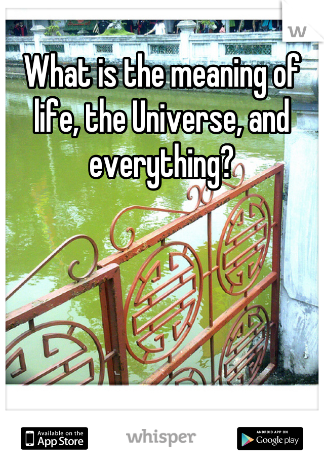 What is the meaning of life, the Universe, and everything?