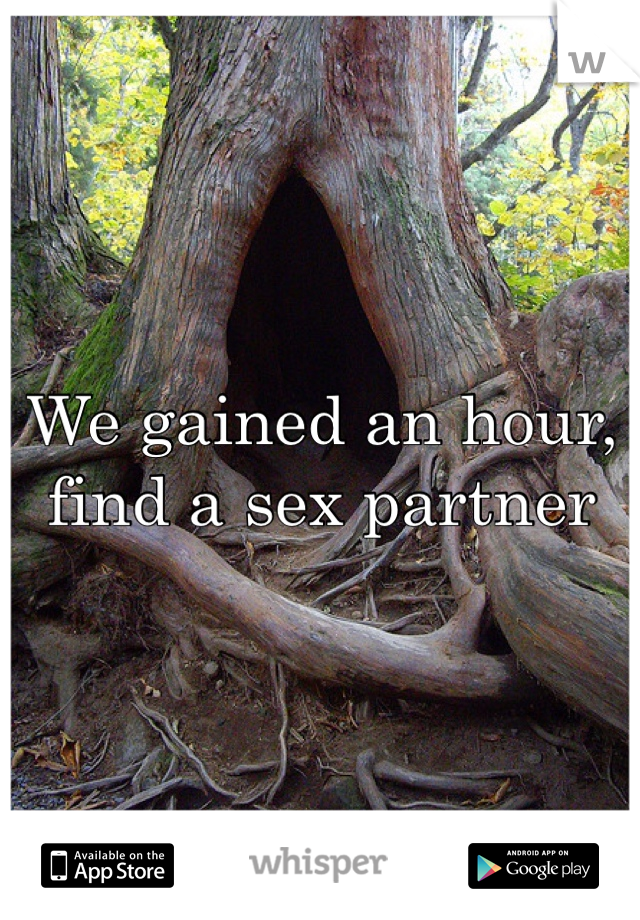 We gained an hour, find a sex partner