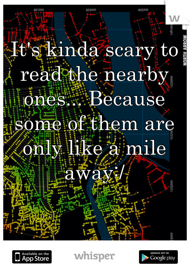 It's kinda scary to read the nearby ones... Because some of them are only like a mile away:/