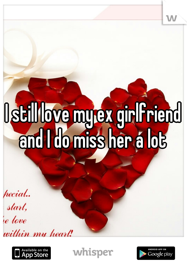 I still love my ex girlfriend and I do miss her a lot