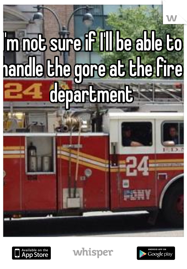 I'm not sure if I'll be able to handle the gore at the fire department