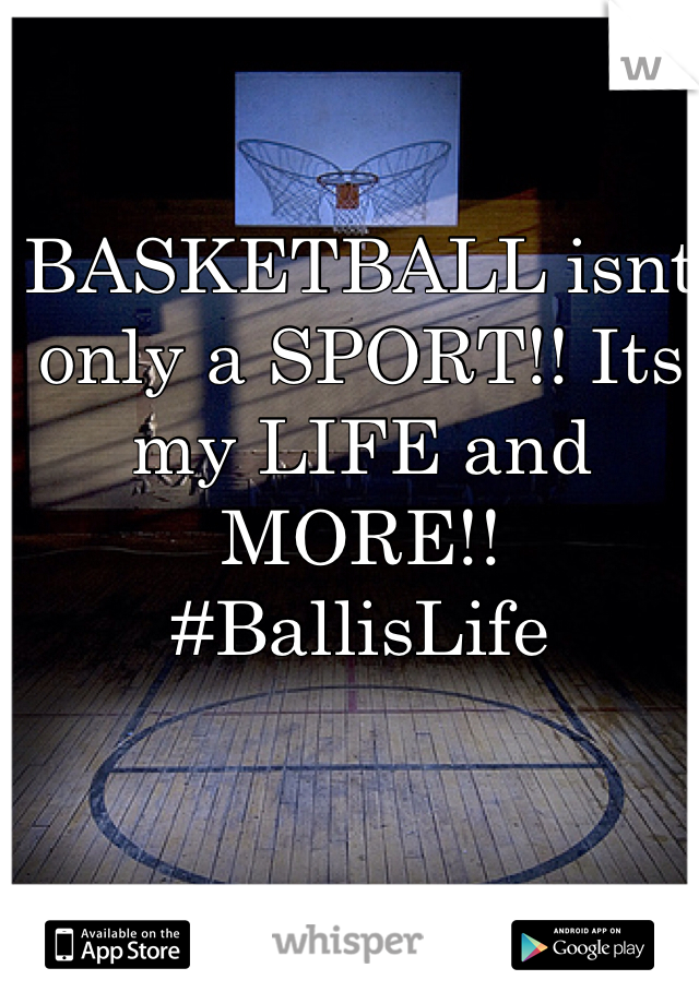 BASKETBALL isnt only a SPORT!! Its my LIFE and MORE!!  #BallisLife