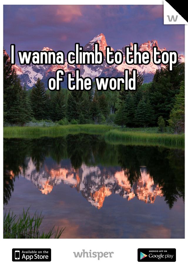 I wanna climb to the top of the world