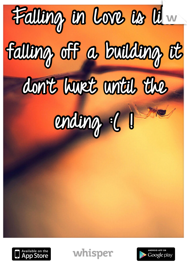 Falling in Love is like falling off a building it don't hurt until the ending :( !