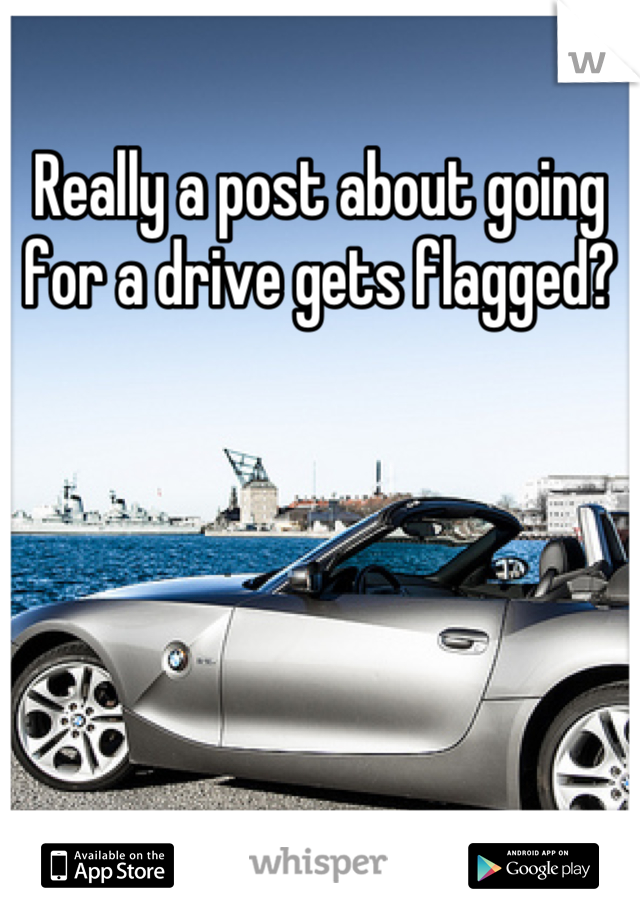 Really a post about going for a drive gets flagged?