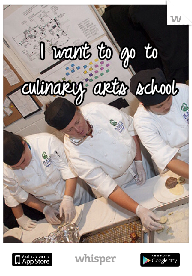 I want to go to culinary arts school