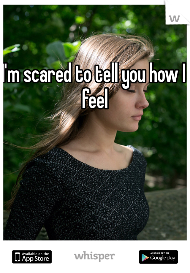 I'm scared to tell you how I feel