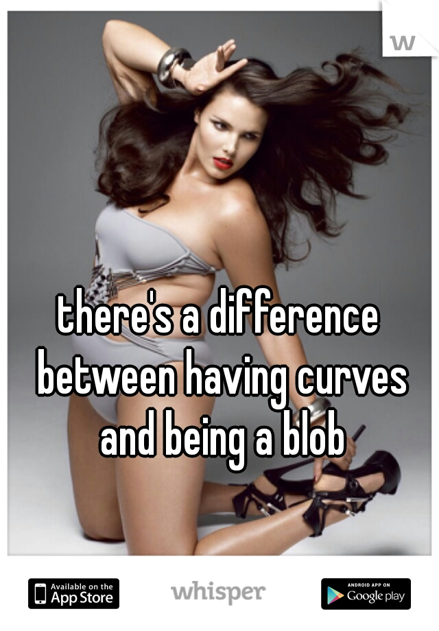 there's a difference between having curves and being a blob