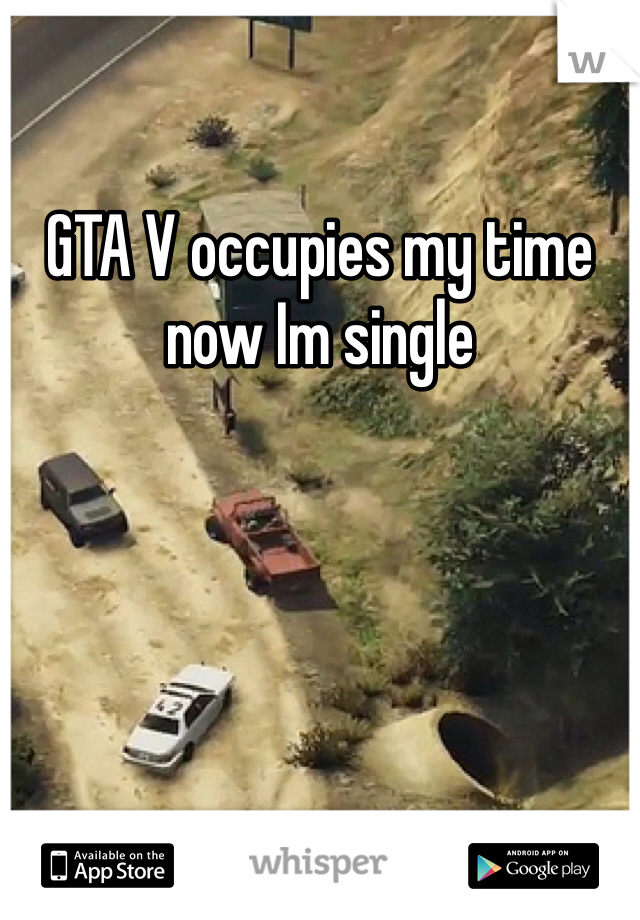GTA V occupies my time now Im single
