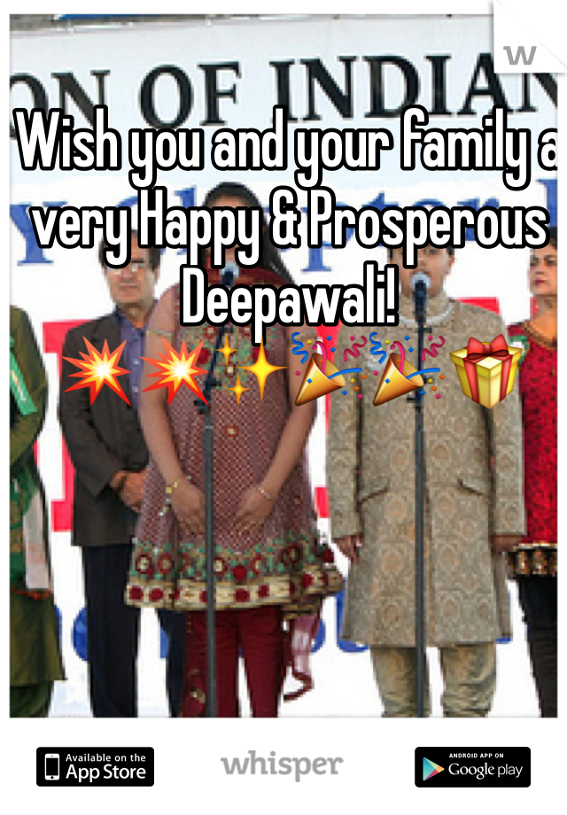 Wish you and your family a very Happy & Prosperous Deepawali! 💥💥✨🎉🎉🎁