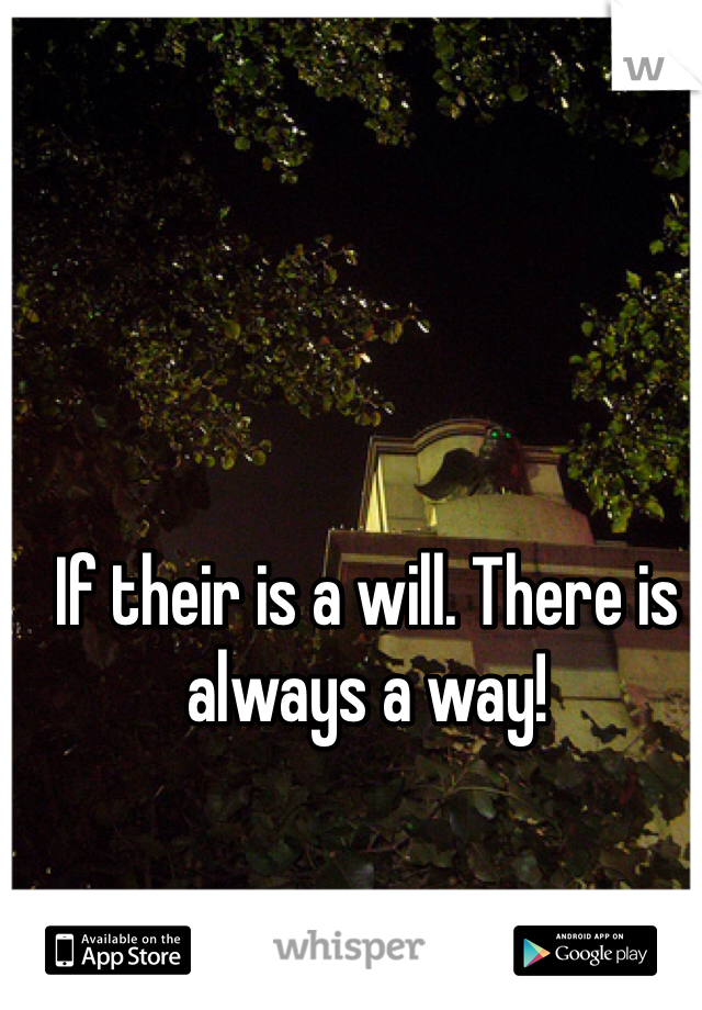 If their is a will. There is always a way!
