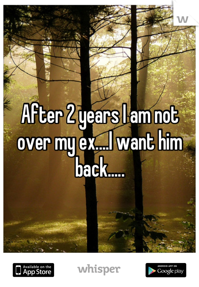 After 2 years I am not over my ex....I want him back.....