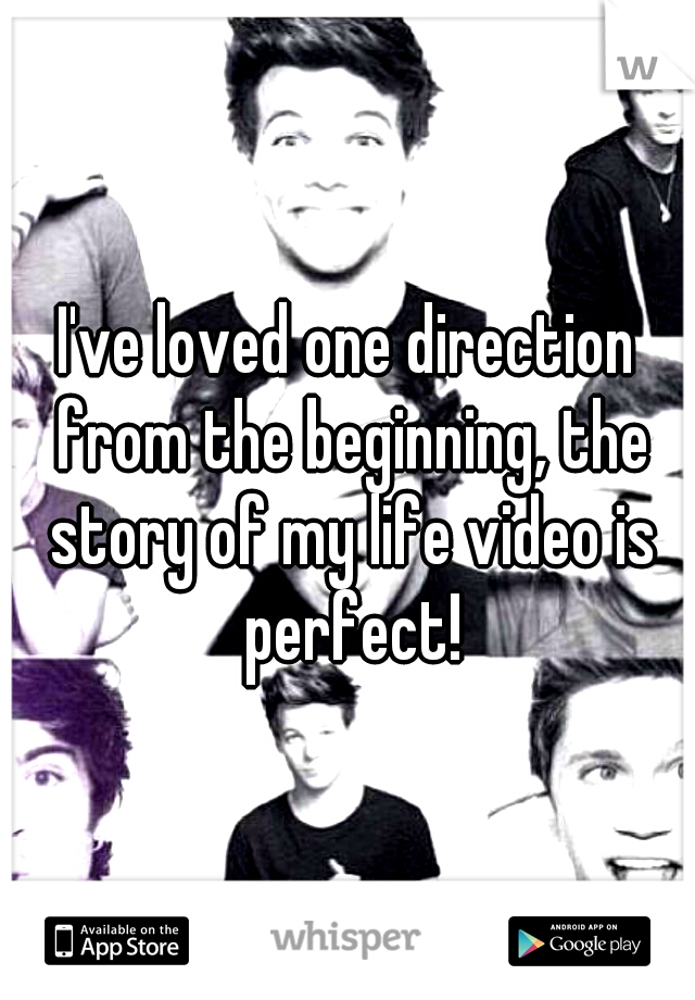 I've loved one direction from the beginning, the story of my life video is perfect!