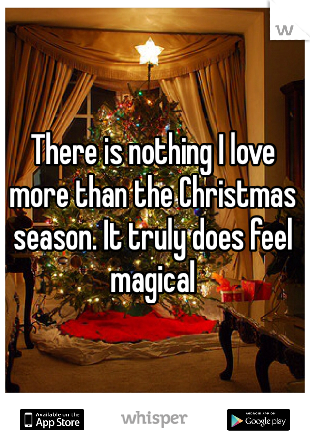 There is nothing I love more than the Christmas season. It truly does feel magical