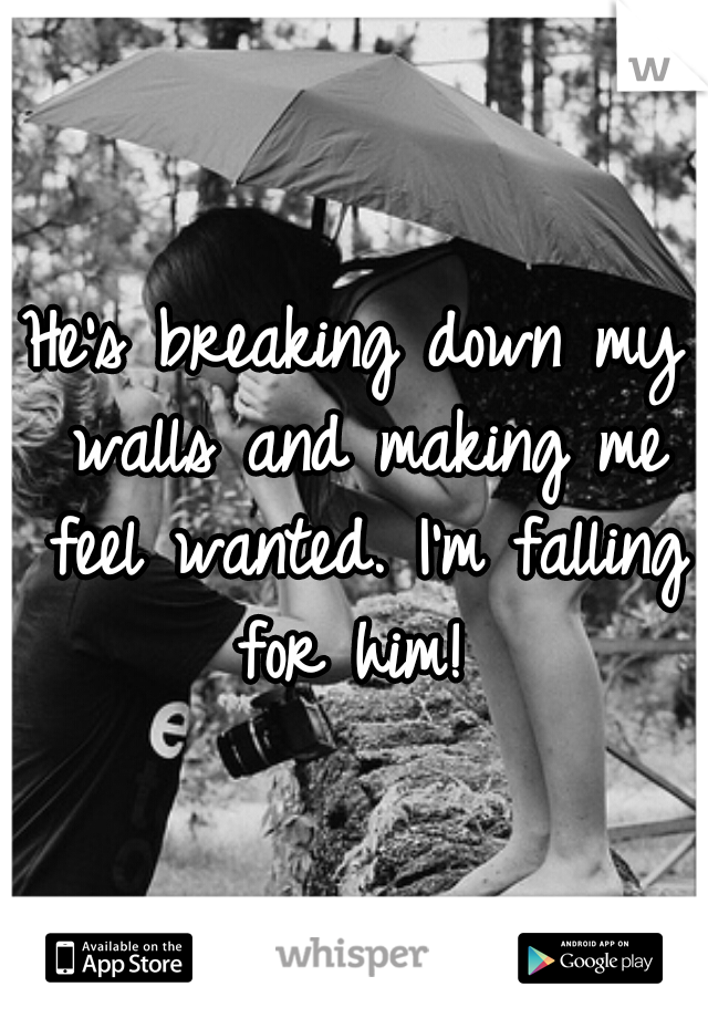 He's breaking down my walls and making me feel wanted. I'm falling for him!