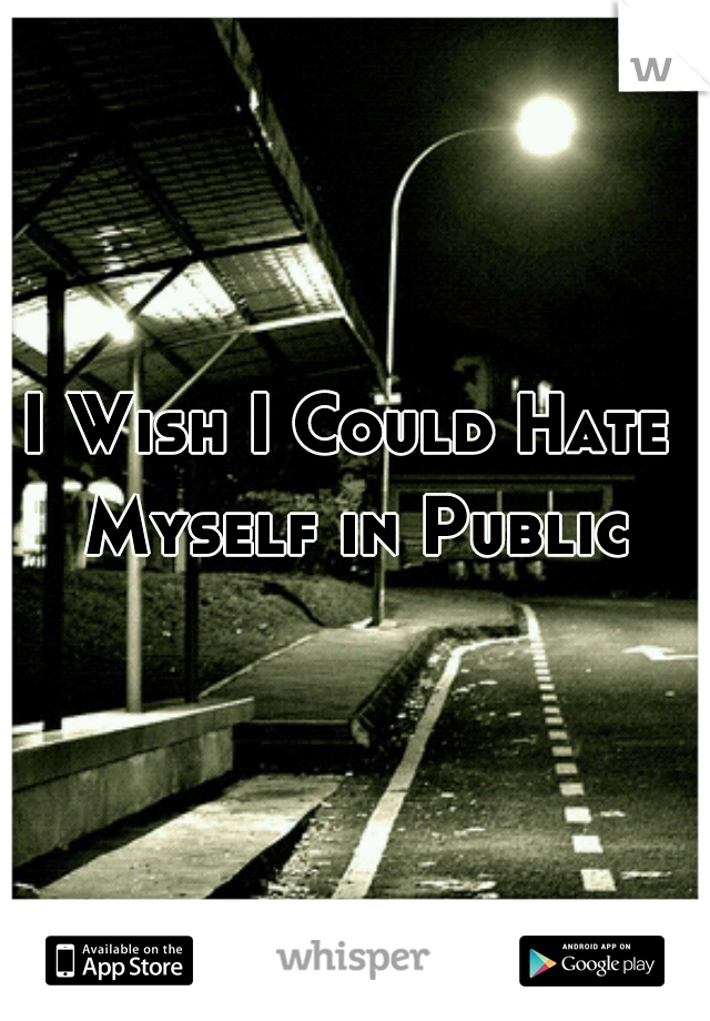 I Wish I Could Hate Myself in Public