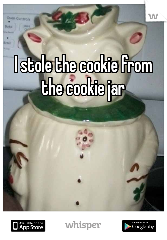 I stole the cookie from the cookie jar