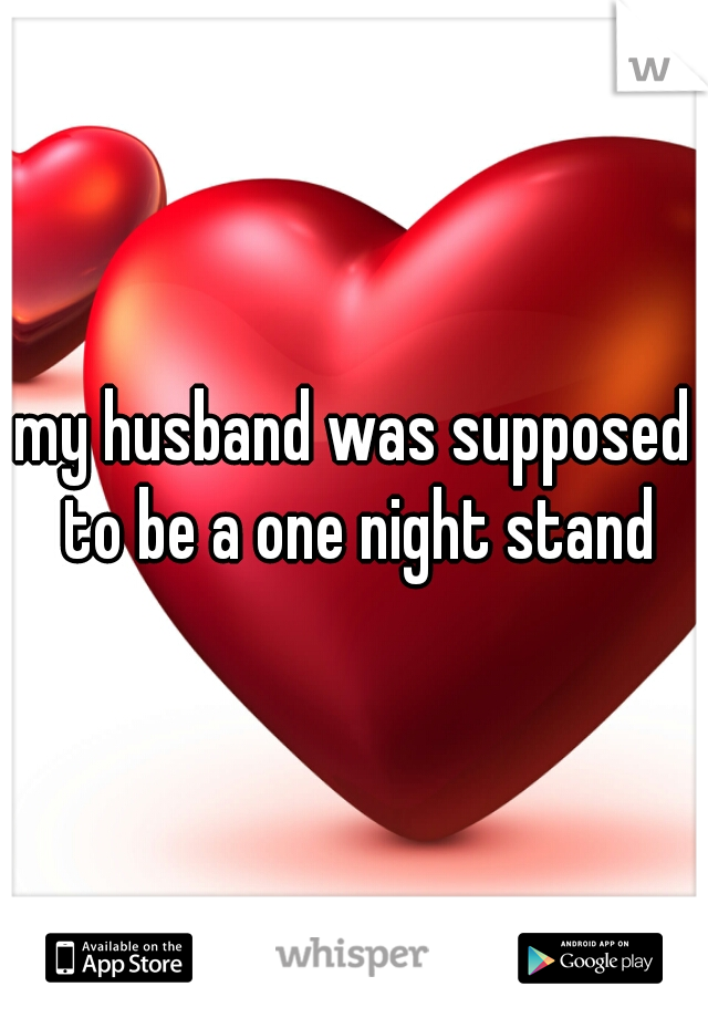 my husband was supposed to be a one night stand
