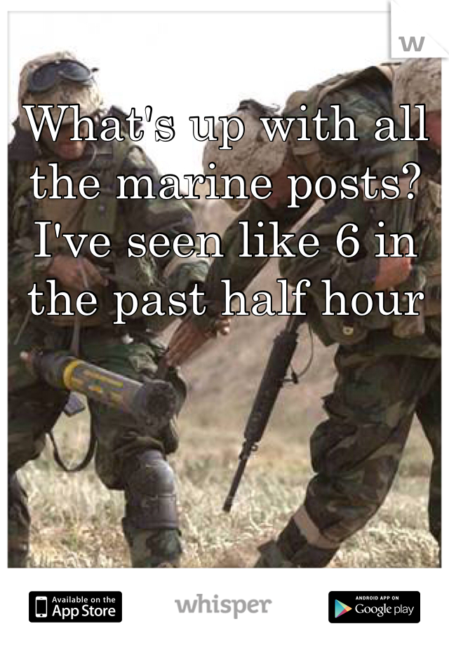 What's up with all the marine posts? I've seen like 6 in the past half hour