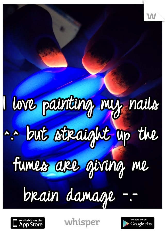 I love painting my nails ^.^ but straight up the fumes are giving me brain damage -.-