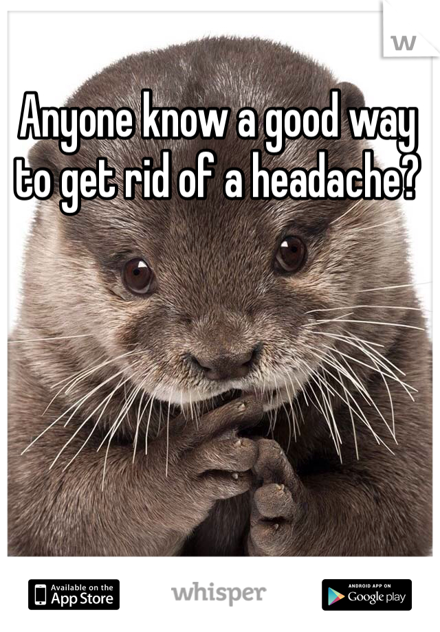Anyone know a good way to get rid of a headache?