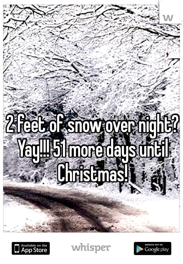 2 feet of snow over night? Yay!!! 51 more days until Christmas!