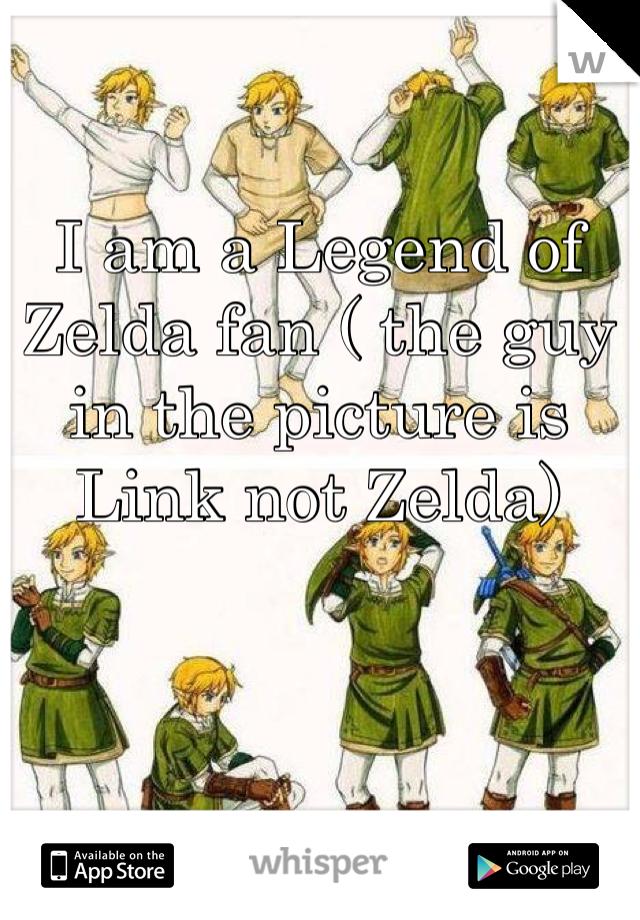 I am a Legend of Zelda fan ( the guy in the picture is Link not Zelda)