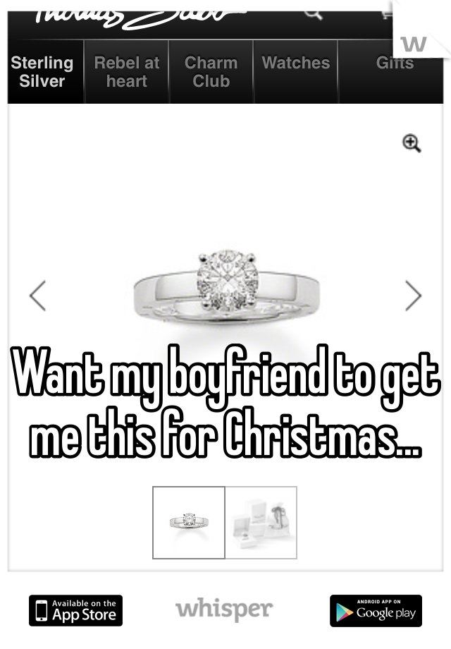 Want my boyfriend to get me this for Christmas...