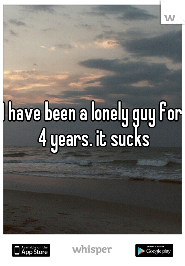 I have been a lonely guy for 4 years. it sucks