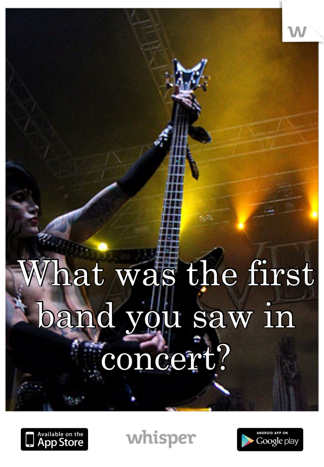 What was the first band you saw in concert?