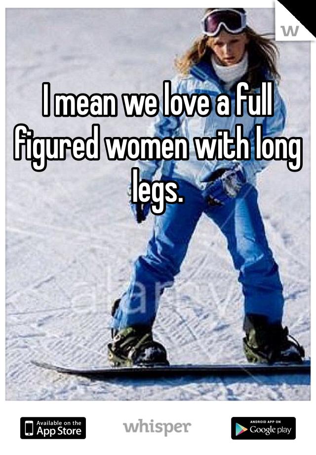 Full figured women meaning