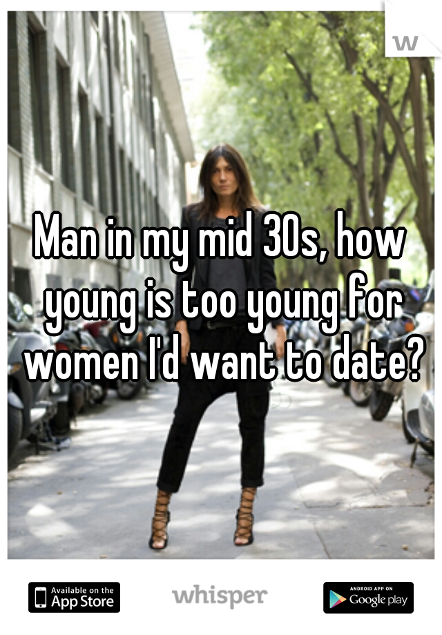 Man in my mid 30s, how young is too young for women I'd want to date?