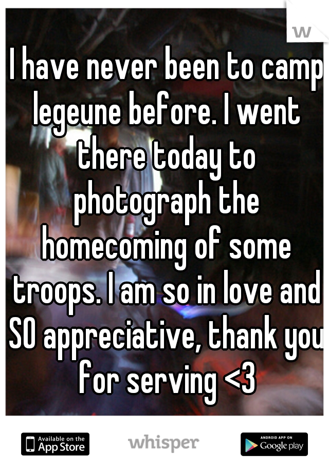 I have never been to camp legeune before. I went there today to photograph the homecoming of some troops. I am so in love and SO appreciative, thank you for serving <3